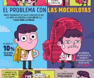 mochila, escuela, and peso image