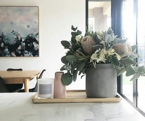 black, flowers, and style image