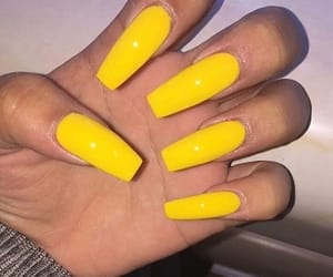 nails, neon, and longnails image