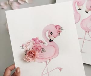 animals, flowers, and pink image