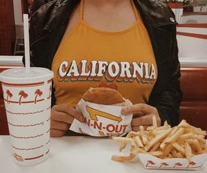 burger, in n out, and pretty image