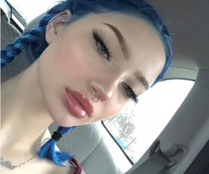 blue hair, fashion, and instagirl image