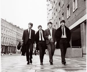 the beatles, black and white, and music image