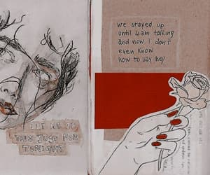 art, Collage, and journal image
