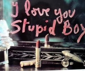 love, boy, and lipstick image