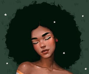 Afro, drawing, and girl image