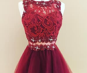 red homecoming dresses, custom homecoming dresses, and party dresses lace image
