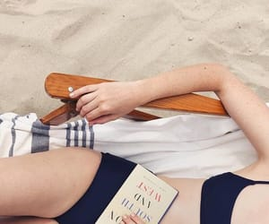 beach, book, and clothes image
