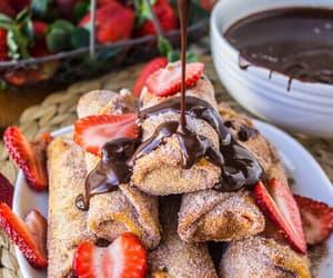 chocolate, fresas, and yummy image