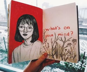 aesthetic, quotes, and sketch image