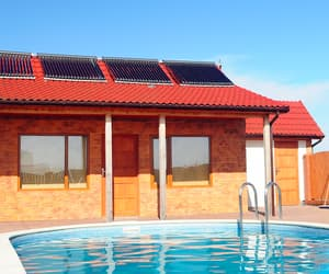 pool heating, solar pool heating, and swimming pool heating image