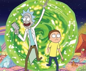 cartoon, wallpaper, and rick and morty image