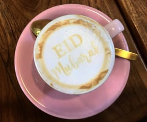allah, latte art, and sweets image