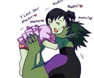i love you!, beast boys baby girl, and cute little ponytail image