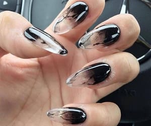 nails, black, and beauty image