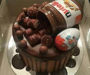 cake, nutella, and chocolate image