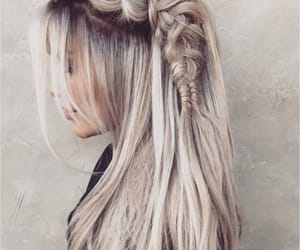 hairstyle, stylish, and plaited image