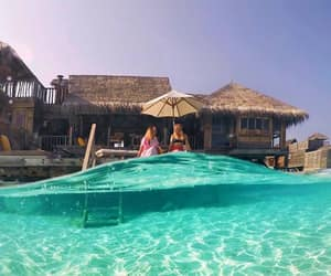 holidays, Maldives, and traveling image