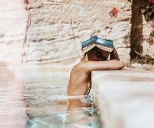book, relax, and summer vibes image