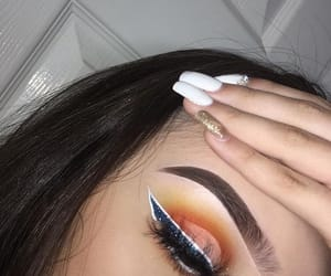 eye makeup, makeup, and nails image