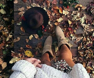 boots, cozy, and fall image