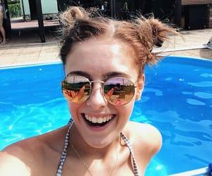 brown hair, cute girl, and sun image