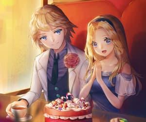 boyfriend, cake, and couple image