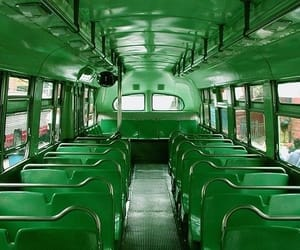 green, aesthetic, and bus image