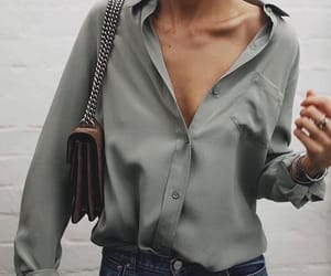 bag, blouse, and casual image