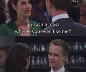 Barney Stinson, himym, and lily image