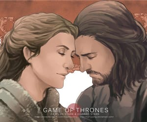 art, game of thrones, and catelyn stark image