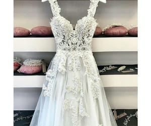 bride, dress, and embroidery image