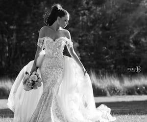 floral, wedding, and mermaid image