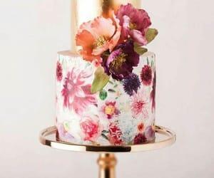 birthday cake, cake, and flowers image