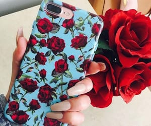aesthetics, iphone, and roses image