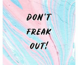 blue, freak out, and pink image