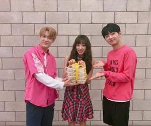 yuqi, jeno, and kim yong guk image