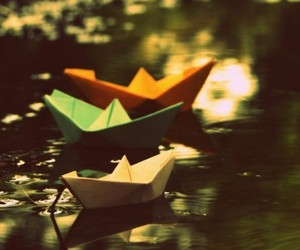 freedom and paper boat image