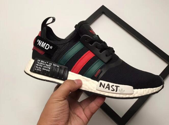 Adidas NMD R1 X Off White Nast Black Green Red