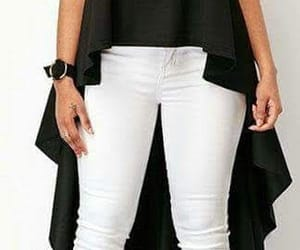 estilo, blusas largas, and mujer image