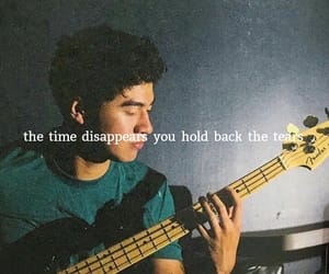 band, bass guitar, and Lyrics image