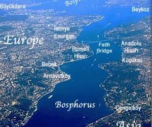İstanbul-turkey and map of the bosphorus image