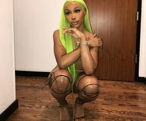 slime, neon hair, and sza image