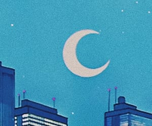 aesthetic, header, and moon image