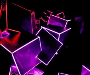 black, purple, and cubes image