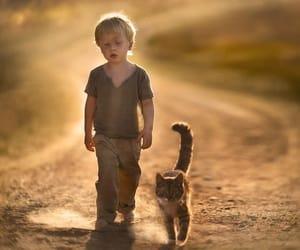 enfant et animaux image