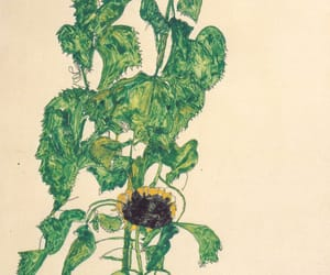 egon schiele and sunflower image