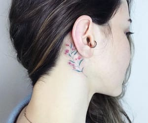 flower, piercing, and pink image