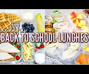 healthy, lunches, and back to school image