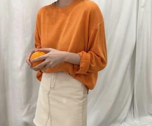 aesthetic, orange, and fashion image